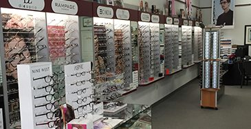 Store Page - Vacaville - Glasses Showcase