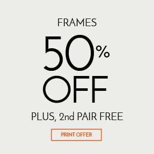 Frames $50 Off Plus 2nd Pair Free