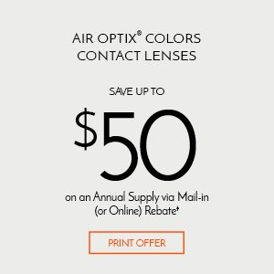 Save $50 Air Optix Colors Annual Supply