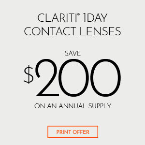 Clariti 1 Day Contact Lenses Save $100 on Annual Supply